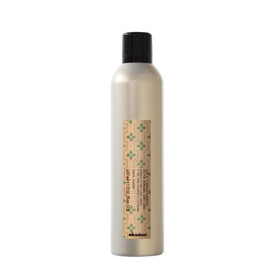 #MoreInside. This is a Medium Hairspray. Invisible medium hold hairspray characterized by a very fine mist. Benefits: gives structure, endures humidity, can be worked also after application, dries out very quickly, easy to remove, slight anti-frizz effect. The formula is paraben-free and with no added colourings. HOW TO USE: For styling, spray onto the hair at a distance of 30cm then comb. It can also be sprayed directly onto the areas to be defined.