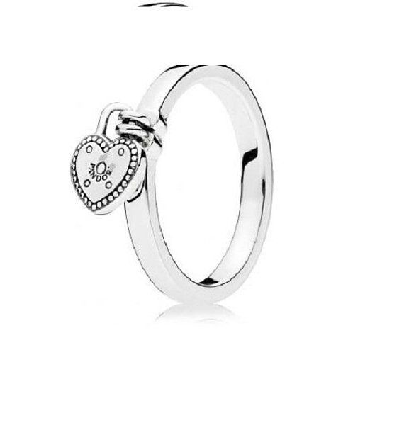 925 Sterling Silver Charm Zircon Coeur Chaîne Anneau Femmes Parti Bijoux