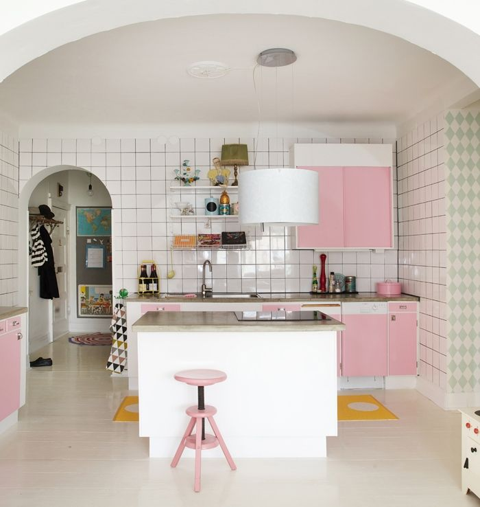 Pink #kitchen