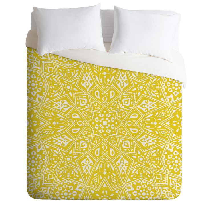 Aimee St Hill Amirah Yellow Duvet Cover | DENY Designs Home Accessories