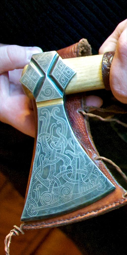 A copy of the famous Mammen Axe made by Lars Jensen.