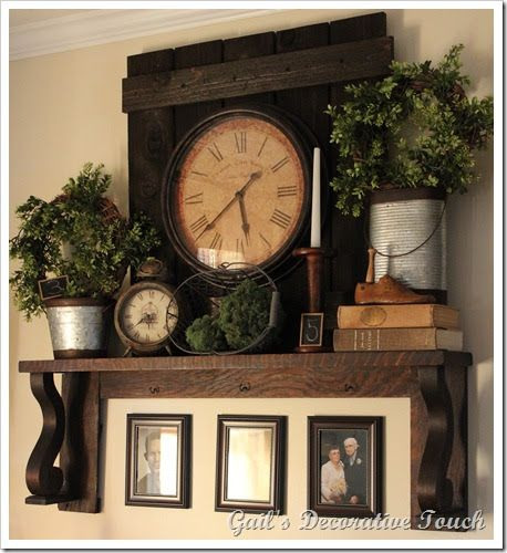 Gail's Decorative Touch: Spring and Summer Mantel Shelf and a Pig with Wings