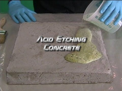 Acid Etching Concrete - YouTube