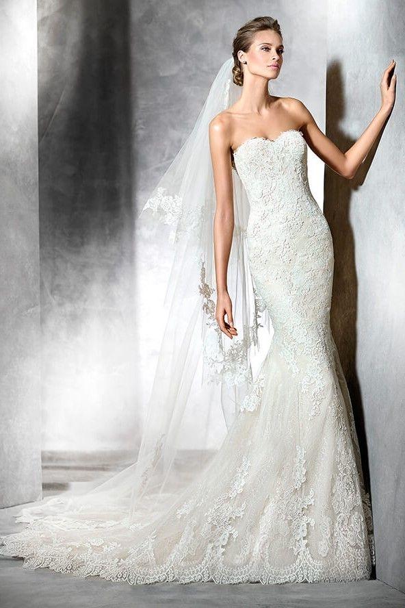 87 best Pronovias Wedding Dresses images on Pinterest   Brautkleider ...