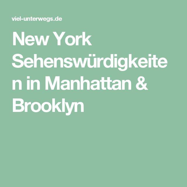 New York Sehenswürdigkeiten in Manhattan & Brooklyn