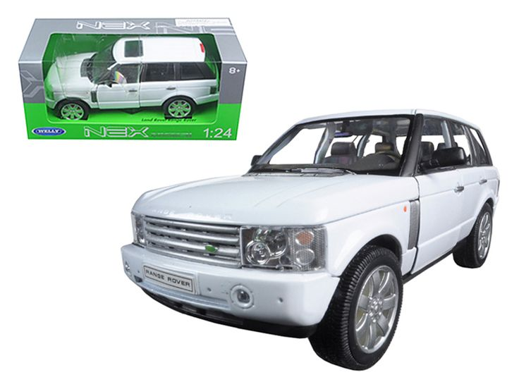 2003 Land Rover Range Rover White 1/24 Diecast Model Car by Welly - Brand new 1:24 scale diecast model car of 2003 Land Rover Range Rover White die cast car model by Welly. Brand new box. Rubber tires. Detailed interior, exterior. Has opening hood and doors. Made of diecast with some plastic parts. Dimensions approximately L-8, W-3, H-3.25 inches. Please note that manufacturer may change packing box at anytime. Product will stay exactly the same.-Weight: 2. Height: 6. Width: 11. Box Weight…
