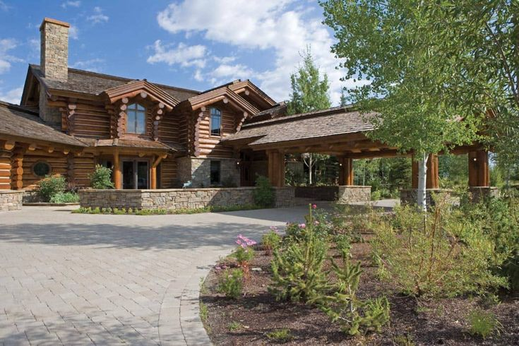 Jackson, Wyoming Handcrafted Log Home Photo Gallery