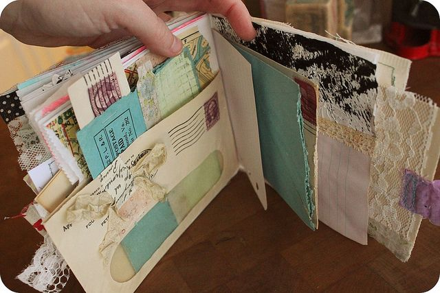 Turn that junk mail into  book/journal...we have lots of junk mail at the clinic!