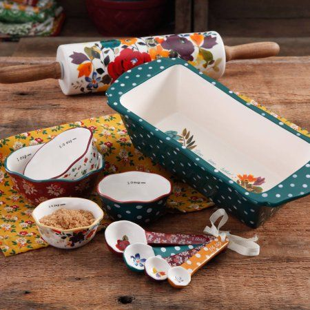 The Pioneer Woman Harvest Bakerware Set, 10-Piece - Walmart.com