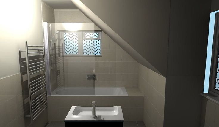A luxury bathroom in a loft conversion designed by room for Bathroom ideas for lofts