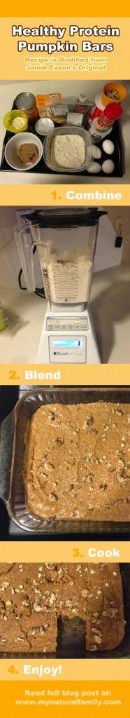 An Easy, Healthy Pumpkin Protein Bar Recipe - It's Even a Gluten-Free Recipe!