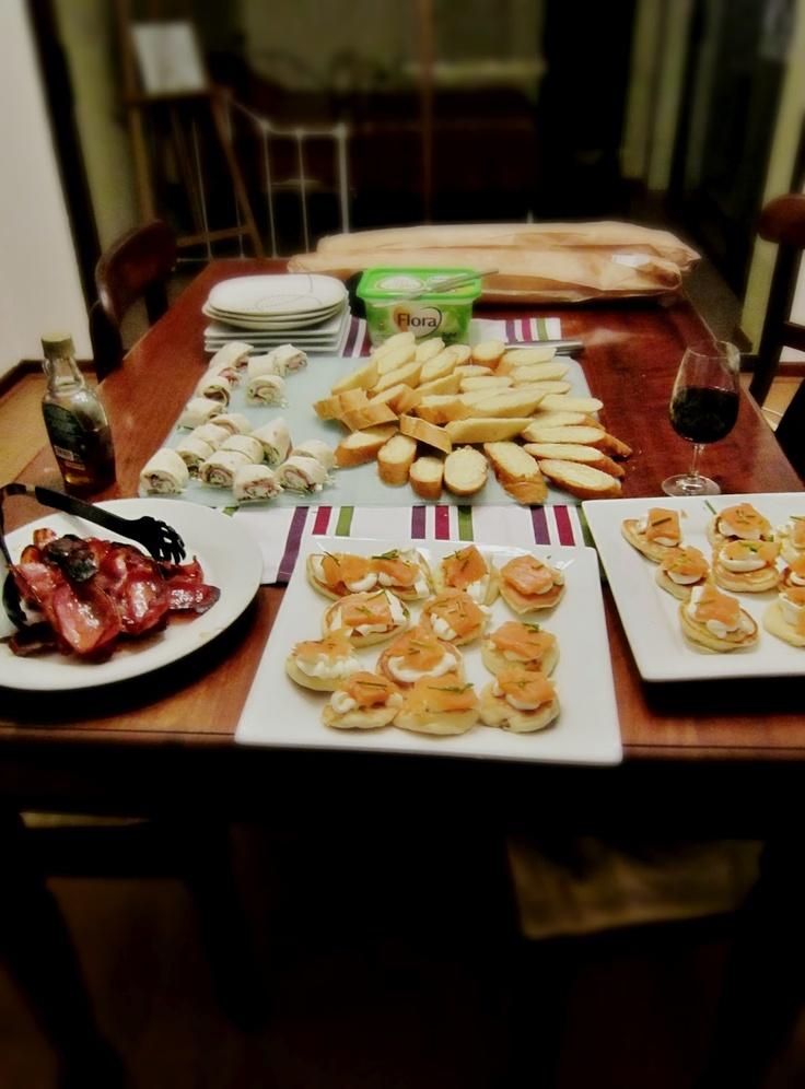 Canadian F1, evening finger foods. | Seasons Eat-ins & Feelins