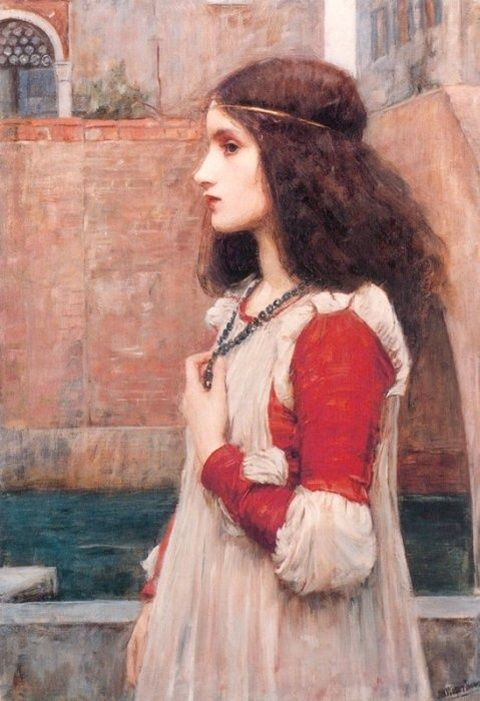 "John William Waterhouse (1849-1917)  Juliet  Oil on canvas  1898  46.5 x 70 cm  (18.31"" x 27.56"")  Private collection  Added: 2001-09-26 00:00:00"