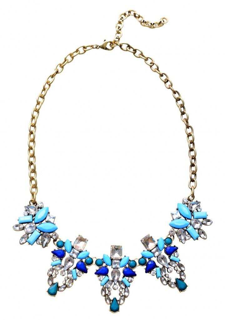 Various Matte Blues Statement Necklace 19,90€ #happinessbtq