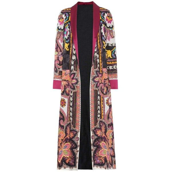 Etro Printed Jacquard Robe ($2,525) ❤ liked on Polyvore featuring intimates, robes, jackets, multicoloured, etro, bath robes and dressing gown