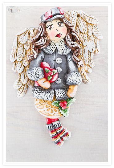 Aniołek z masy solnej, aniołki z masy solnej, masa solna, salt dough angels, salt dough,  www.starapracownia.blogspot.com www.masa-solna.pl