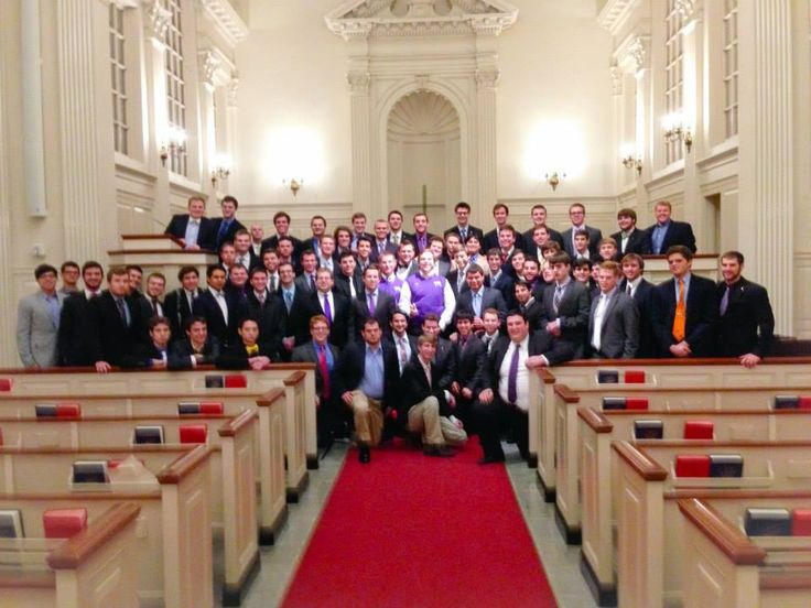 BYX- Brothers Under Christ fraternity initiation in the chapel 2014