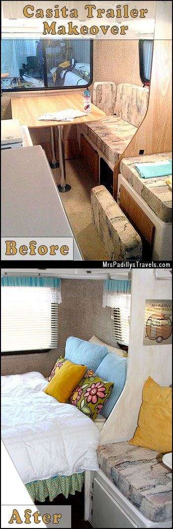 Complete interior Makeover on a Casita Travel Trailer. Glamping Camping #MrsPadilly