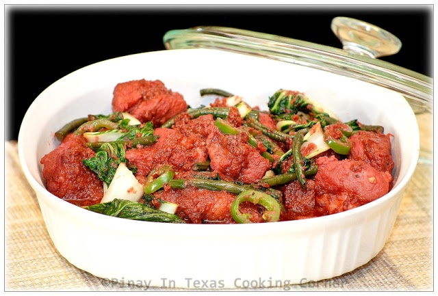Pinay In Texas Cooking Corner: Binagoongang Baboy (Pork in Shrimp Paste)