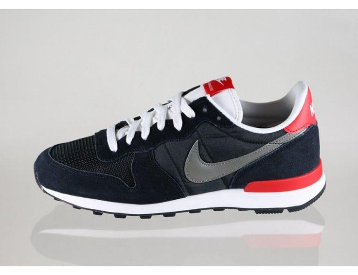 Nike 631754 001 Internationalist Homme Noir/Gris Rouge Blanc