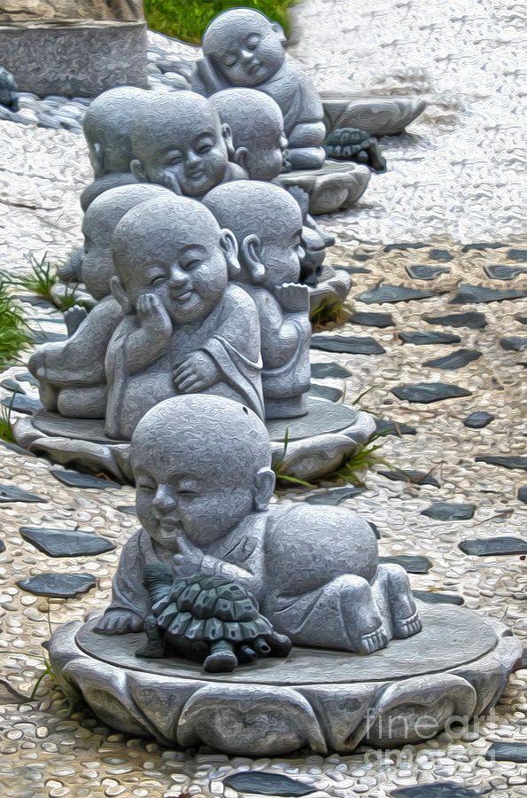 Baby Buddhas Photograph  - Baby Buddhas Fine Art Print