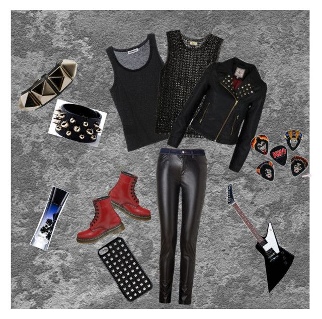 metal girl by slytheriner on Polyvore featuring Jil Sander, Issa, Firetrap, McQ by Alexander McQueen, Dr. Martens, Valentino, VCUBED, GAB and Gibson