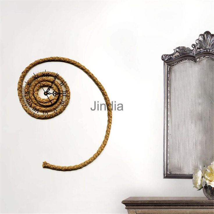 Creative 3d Wall Clock Removable Rope Shape Watch Wall