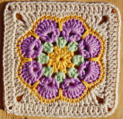 Pretty Crochet Granny Square. | Crochet