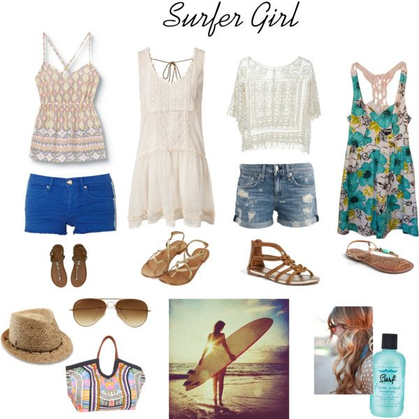 Surfer Girl by lesliekerr, via Polyvore | Senior Fashions ...