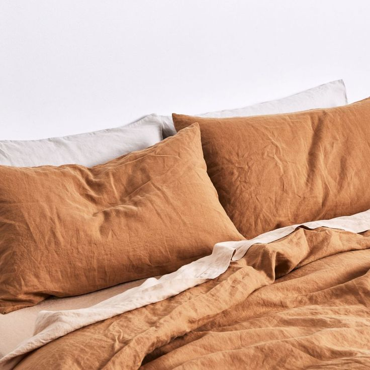 100% Linen Duvet Cover in Clay — IN BED Store