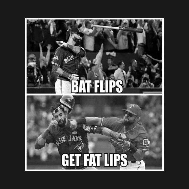 Awesome 'Bat+Flips+Get+Fat+Lips' design on TeePublic!