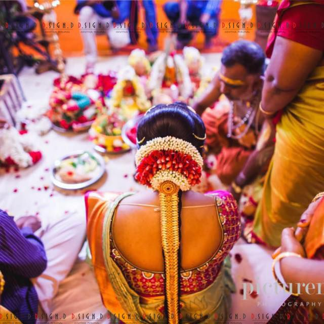 hindu bride spotted wearing a very beautiful jada and kundan worked bridal blouse