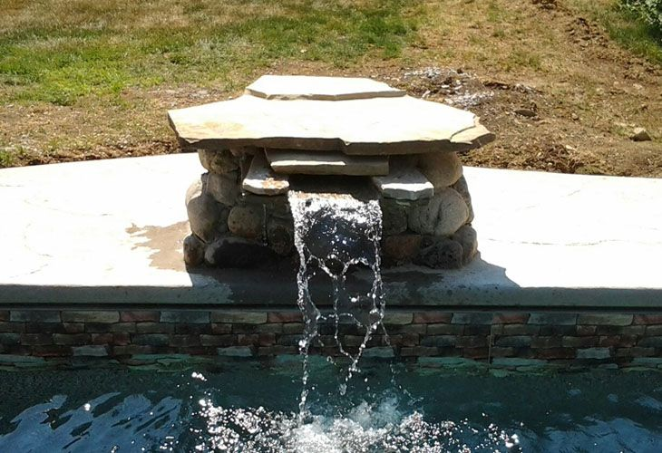 143 best home pool ideas images on pinterest swimming for Above ground pool waterfall ideas