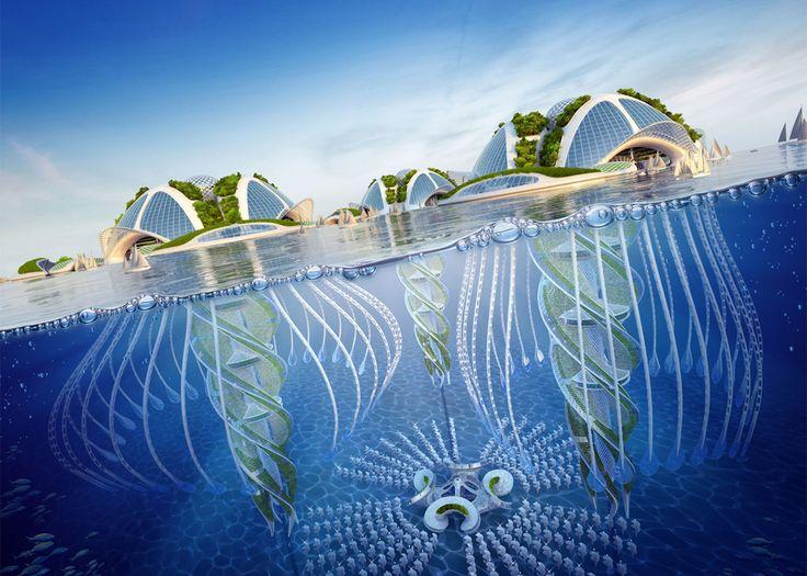 Underwater Eco-Village Plans To Recycle Rubbish Into 'Seascrapers'