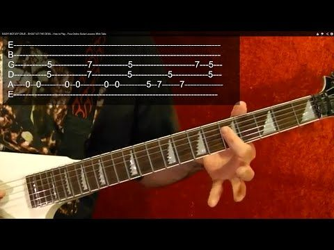 Guitar Lesson - 25 Best Heavy Metal Riffs Ever! EASY ( 1 of 2 ) With Printable Tabs! - YouTube