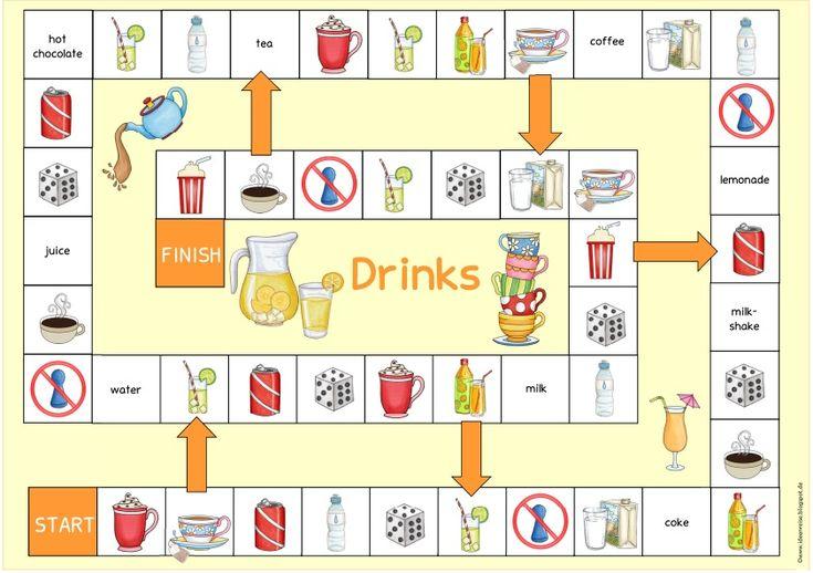"""Diverse FA-Materialien """"drinks""""    Zum Englischthema """"drinks"""" habe ich noch einige Freiarbeitsmaterialien erstellt. Ich habe gleich alles i..."""