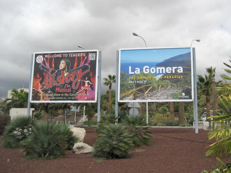 #LaGomera The Unique Wild Paradise. Don´t miss it! :) Valla promocional 4x3 metros en el aeropuerto Tenerife Sur