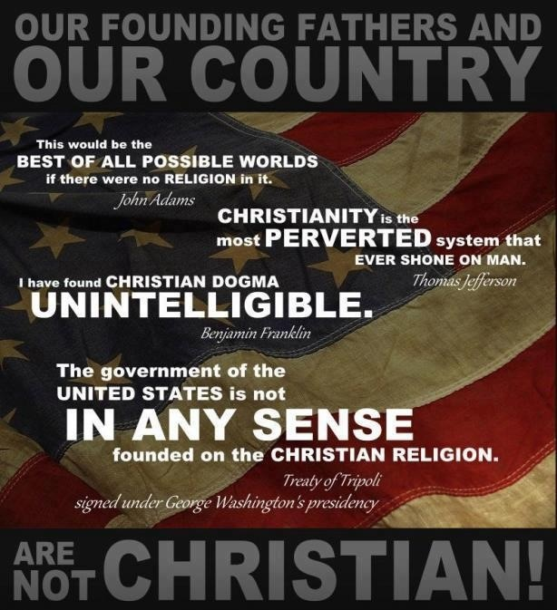 founding fathers and religion the united Many well-meaning christians argue that the united states was founded by  of  america is not in any sense founded on the christian religion - as it has in itself.