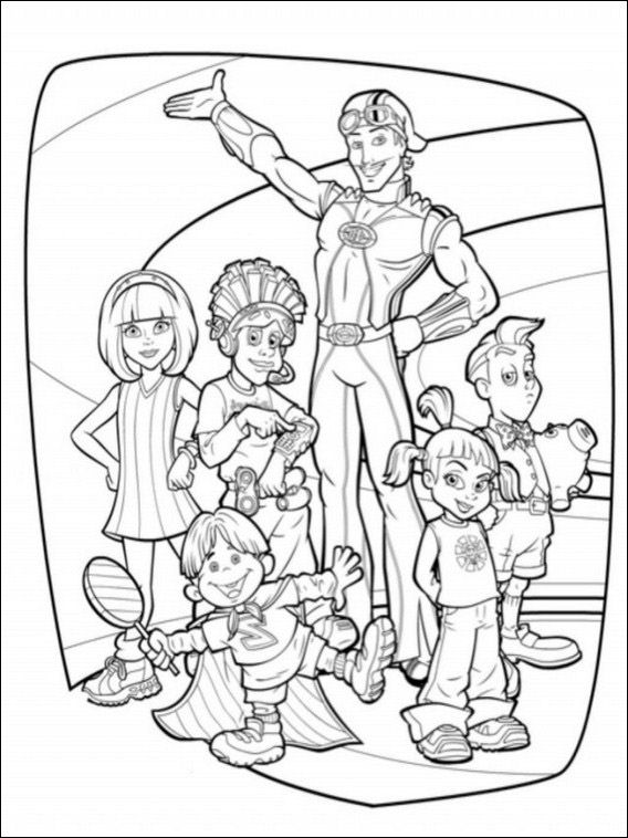 Lazytown Drawing 16 Coloring Pages Online Coloring