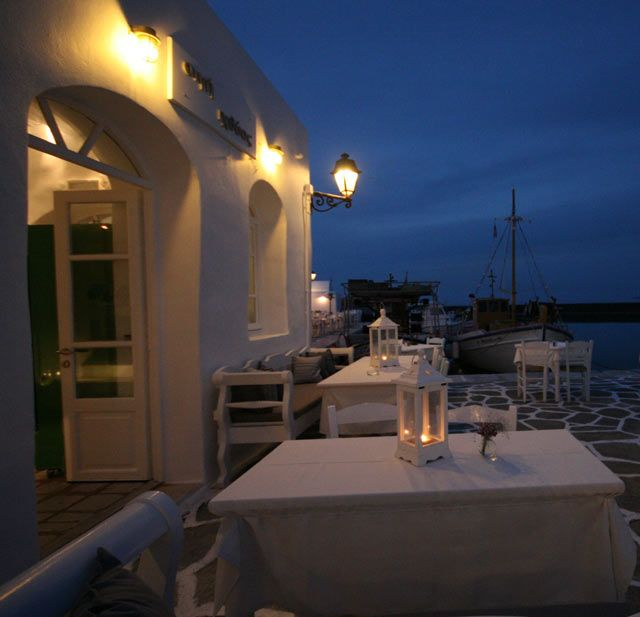 Enjoy a romantic dinner under the stars while on Paros island!