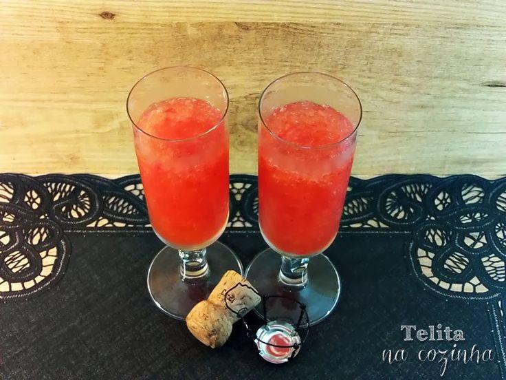 granizado de champanhe com morangos