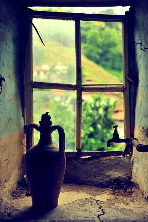 Window with a jug