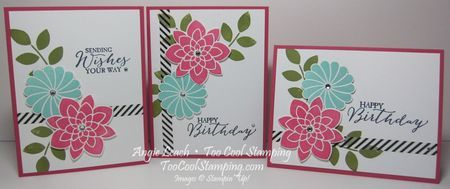 Stamper Sampler: Crazy About You Birthday Floral  stampin up, butterfly basics, stacked with love washi tape, birthday card stamp-a-stack, cards  Details at www.toocoolstamping.com