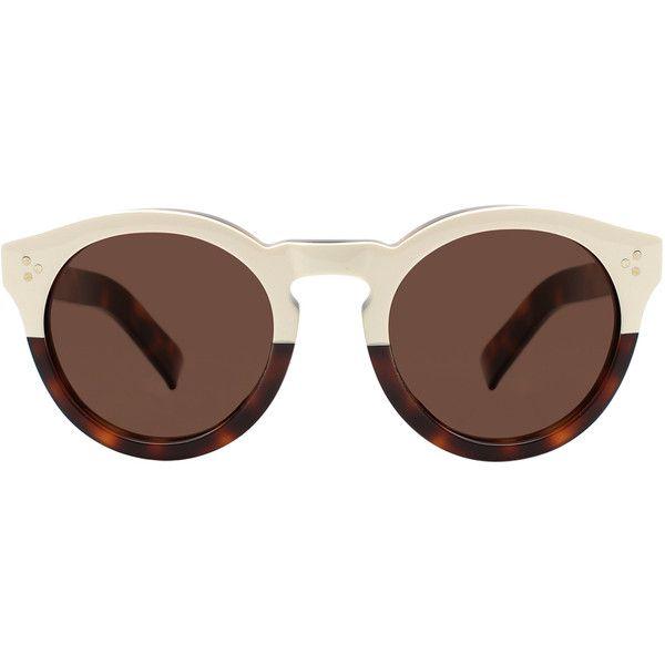 Illesteva Leonard II Havana Sunglasses ($290) ❤ liked on Polyvore featuring accessories, eyewear, sunglasses, brown, rounded sunglasses, tortoise shell sunglasses, illesteva sunglasses, round tortoiseshell sunglasses and round lens glasses
