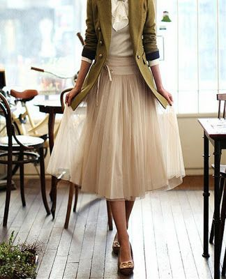 This will be my first project ;) Nylon Tea Length Skirt DIY