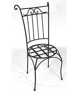 Wrought Iron Wing Back Chair (Morocco) | Overstock™ Shopping - Great Deals on Patio Chairs