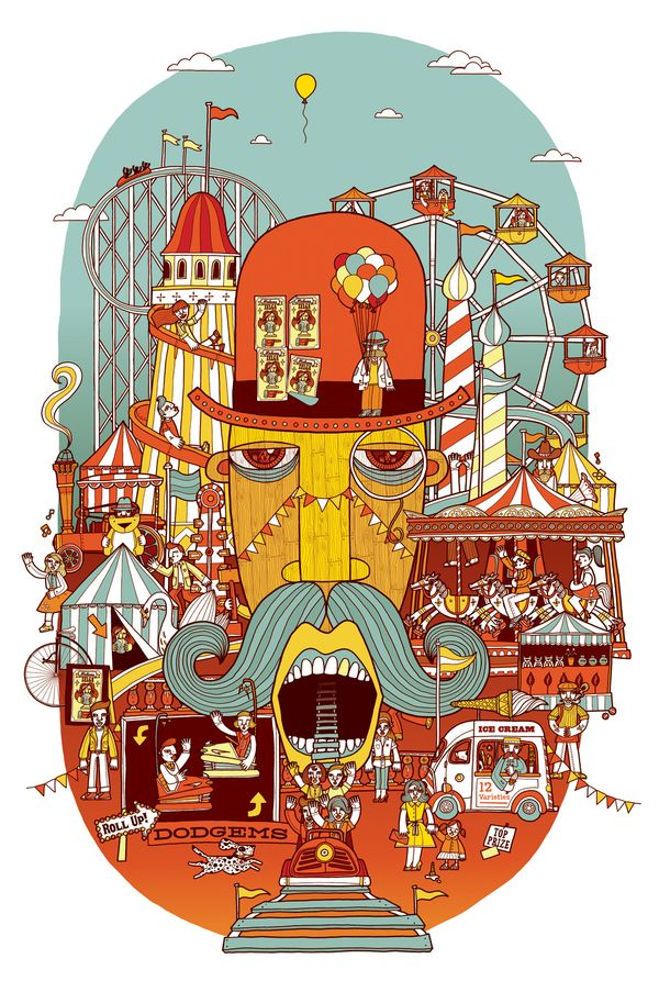 Fairground by Allan Deas, via Behance