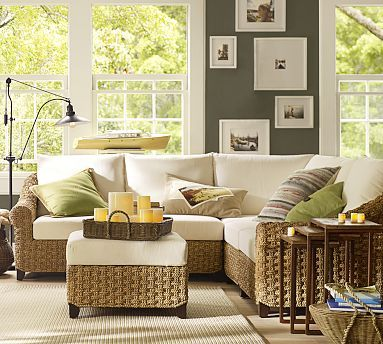 Holbrook seagrass sectional components potterybarn home pinterest paint colors sun and for Seagrass living room furniture