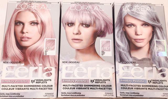 L'Oreal Paris Hair Color Feria Pastels Dye, Smokey Lavender P12 hair color--=3 FERIA Smokey Pastel colours to choose from Smokey PINK (P2) Smokey LAVENDER (P12) Smokey BLUE (P1)