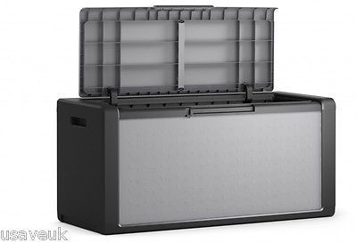 large garden  #storage box #chest 300l 118 x 49 x 55cm #black,  View more on the LINK: 	http://www.zeppy.io/product/gb/2/401109452195/